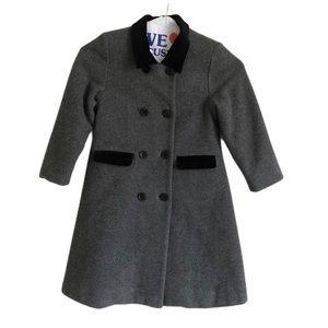 Gymboree Girls Long Wool Grey Pea Coat Size M